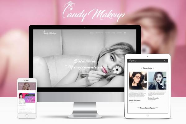 Site e Logo Candy Makeup Center